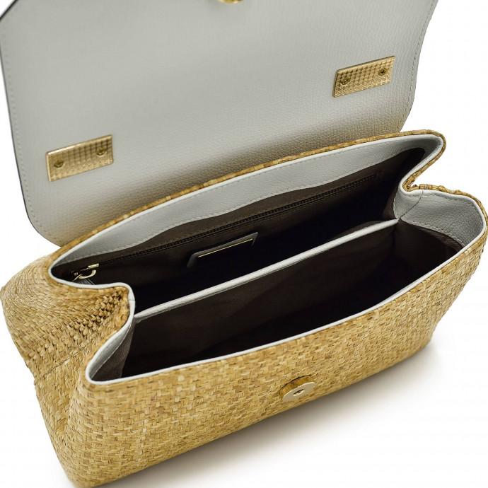 Ручная сумка из кожи и соломы Gianni Notaro