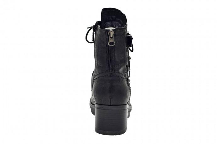 Кожаные ботинки с мехом Nero Giardini